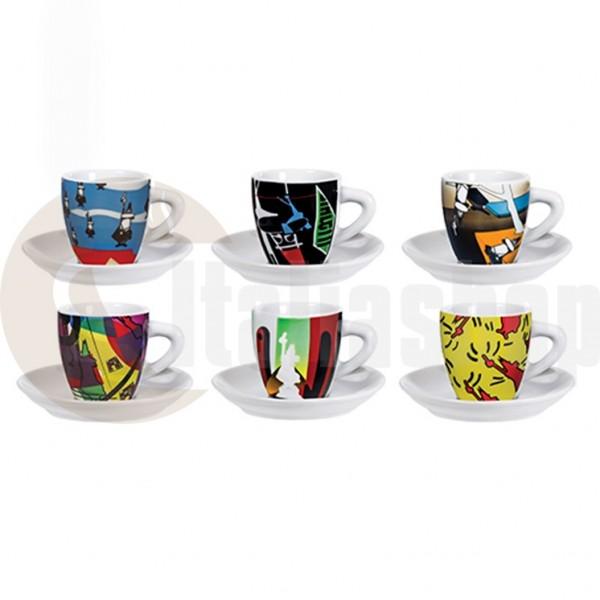 Bialetti cesti din portelan pentru cafea Arte 6 bucati