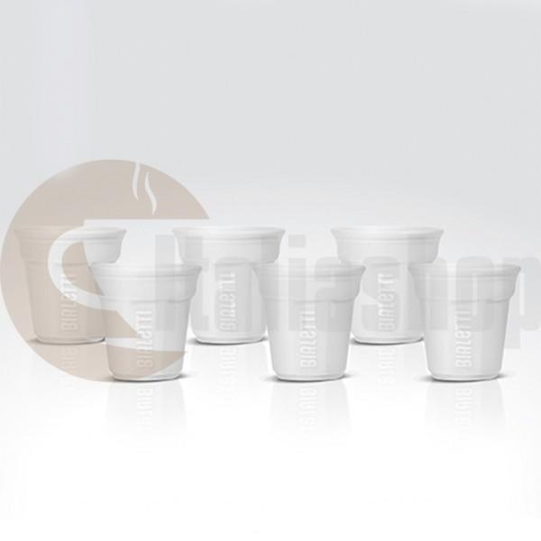 Bialetti pahare din ceramica pentru cafea culoare alb,6 bucati