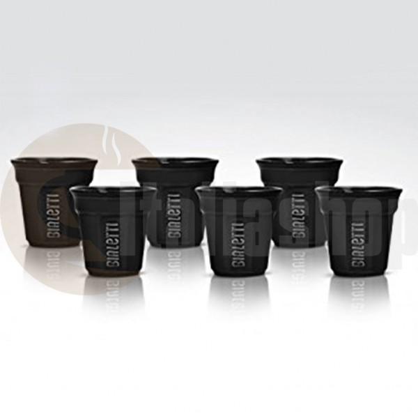 Bialetti pahare din ceramica pentru cafea culoare negru,6 bucati