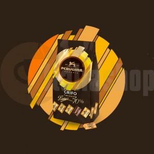 Baci Perugina mini ciocolate fondante 70% pudra de cacao grifo