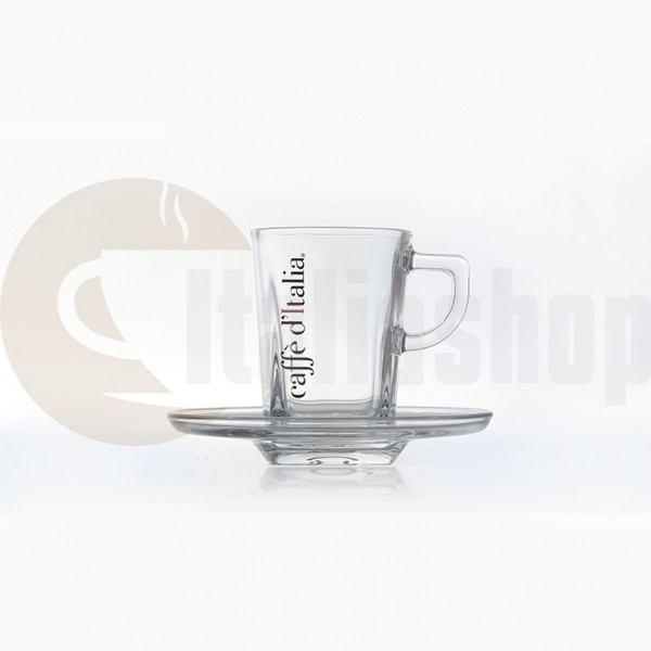 Caffe Ditalia Set Cești Espresso Din Sticlă