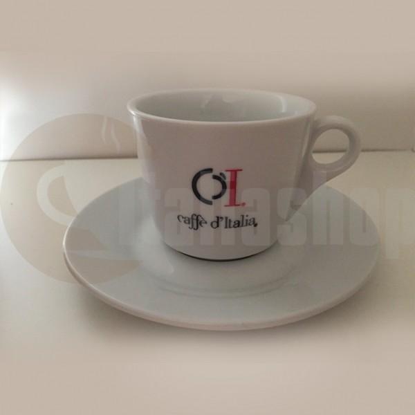 Caffe Ditalia Set Cești Cappuccino Din Porțelan
