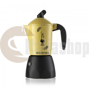 Bialetti Orzo Express pentru 2 cești, culoare limitată galben și negru