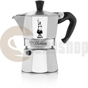Bialetti La Mokina pentru o ceașcă de espresso italiană scurtă, culoare silver
