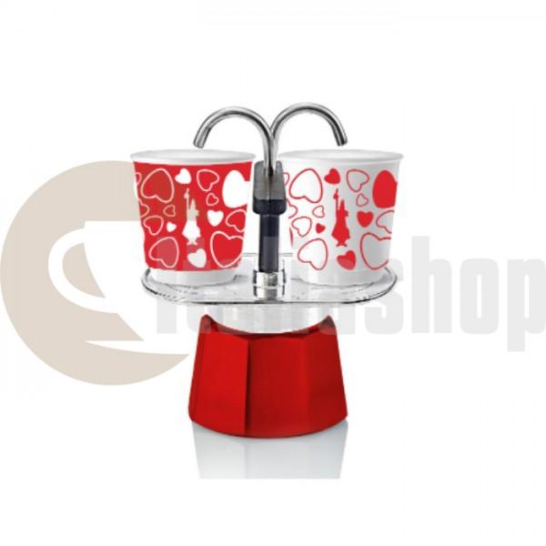 Bialetti Cuore pentru 2 cești în culoare limitată roșu și alb
