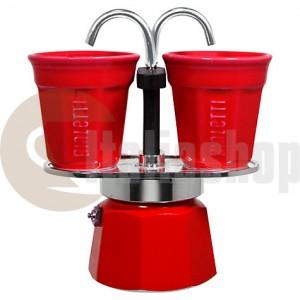 Bialetti Mini Express pentru 2 cești, culoare roșu