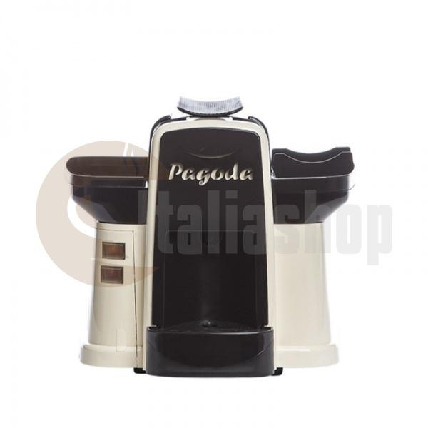 Pagoda mașina de cafea Lavazza Point culoare cremă + 1000 de capsule Manuel + 1 Cozonac