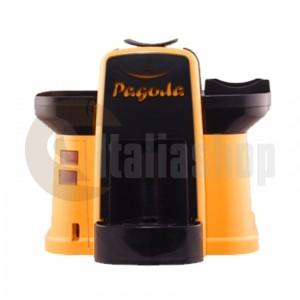 Pagoda mașină de cafea  Lavazza Point culoare galbenă + 1000 de capsule Manuel + 1 Cozonac