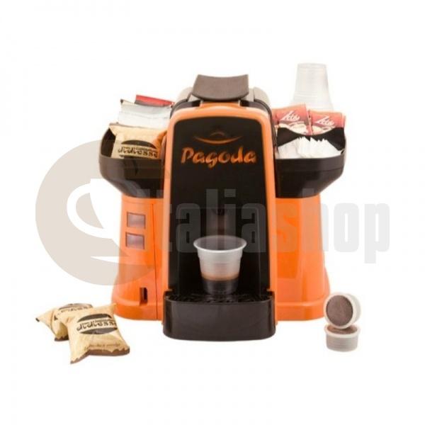 Pagoda mașină de cafea Lavazza Point culoare portocalie + 1000 de capsule Manuel