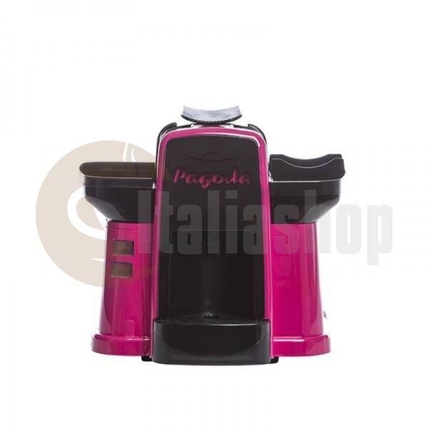 Pagoda mașină de cafea Lavazza Point culoare roz + 1000 de capsule Manuel