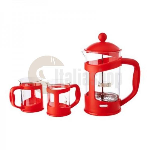 Bialetti Set Presa Mașină De Cafea Pentru 6 Cești Roșii