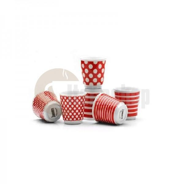 Bialetti set 6 cești pop roșu 1274