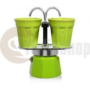 Bialetti Mini Express pentru 2 cești, culoare verde