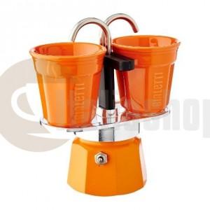 Bialetti Mini Express Pentru 2 Ceașcuțe, Culoare portocalie