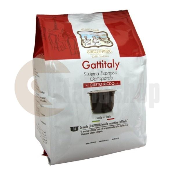 Caffitaly Capsule Compatibile Gattopardo Buon Ricco 16 Bucăți
