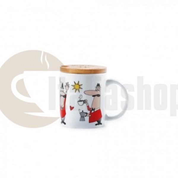 Bialetti Mug con coperchio 3489 ceașcă cu capac