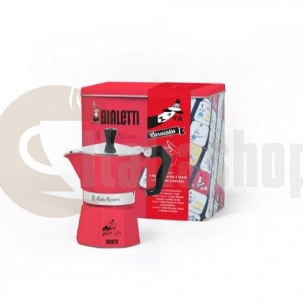 Bialetti Moka Express Carosello 3497 pentru 3 cești лculoare limitate roșu + agendă