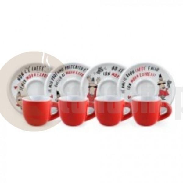 Bialetti Tazzine Moka 3487 4 cești de cafea cu 4 farfurii кафе