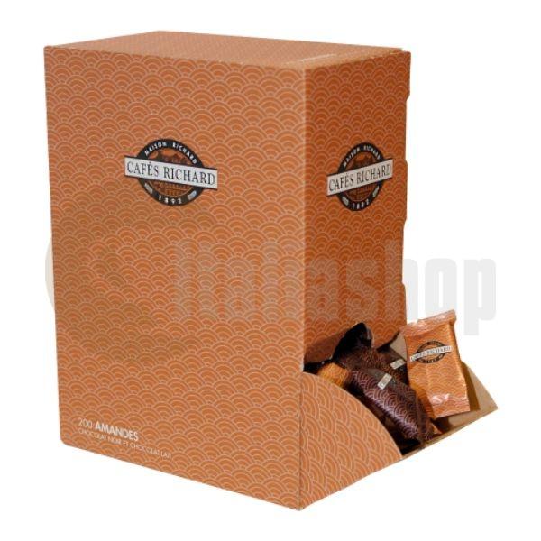 Cafés Richard Amandes Chocolat Noir Lait 200 migdale d ciocolată
