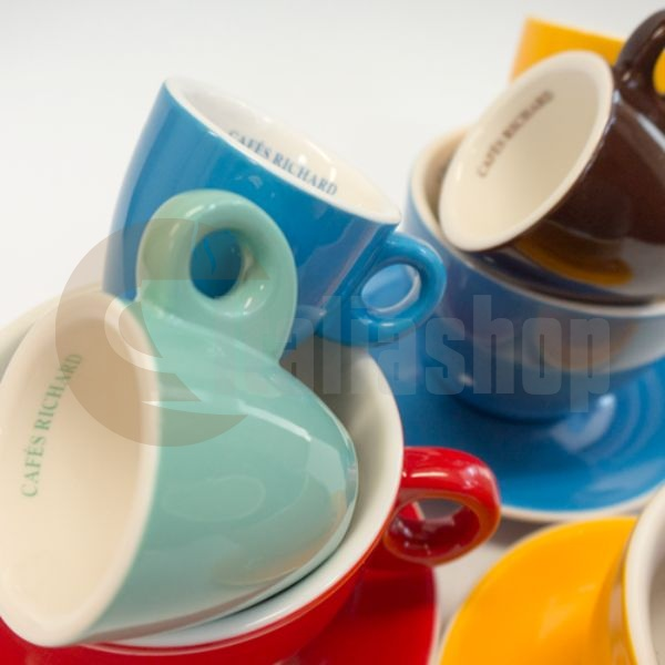 Cafés Richard set de cești colorate cappuccino, 6 buc.