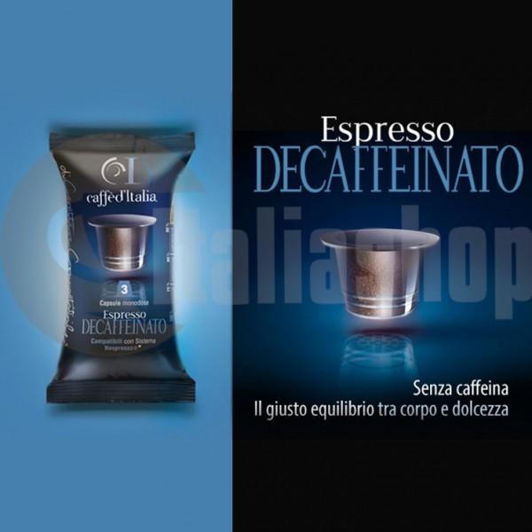 Nespresso capsule compatibile  Caffè d'Italia Decaffeinato 40 buc.
